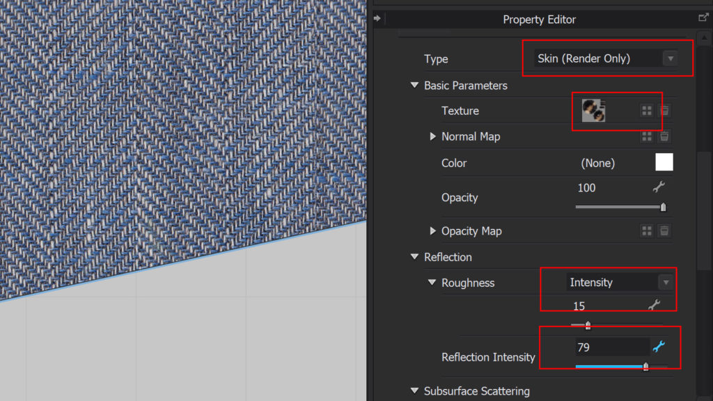 Set the properties and texture for your button