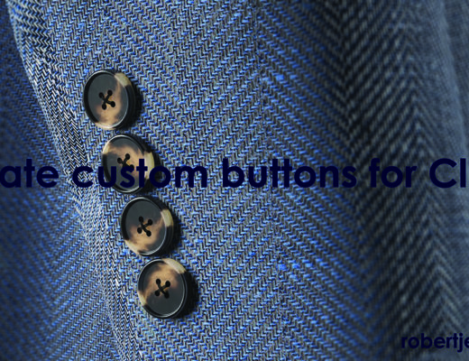 Custom horn buttons made with Photoshop and Clo3D